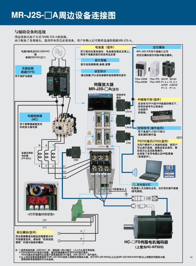 三菱伺服驱动器接线图【相关词_ 三菱伺服驱动器手册】