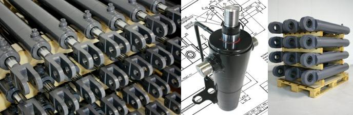 如:单作用/双作用液压缸,伸缩缸,柱塞缸,同步缸,缸盖,活塞,密封件和轴